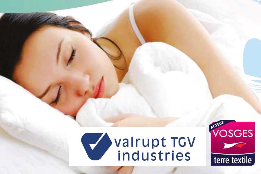 Valrupt TGV Industries fabrication de protection literie et linge de lit