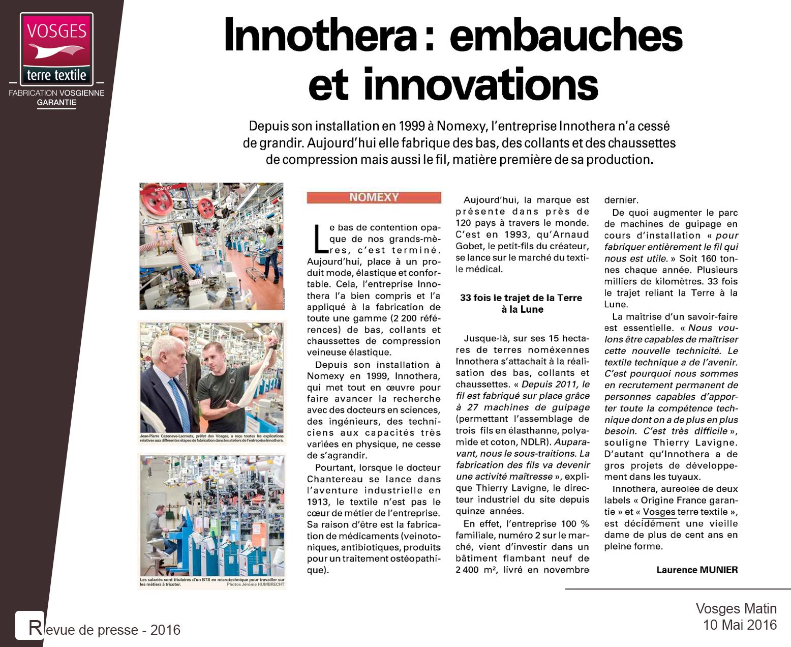 Article paru dans Vosges matin et sur Vosgesmatin.fr