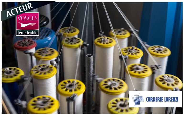 Fabrication française dans les Vosges de ficelles cordes drisses torons par Corderie Lorenzi