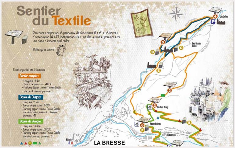 Sentier-du-Textile-Made-in-Vosges-à-La-Bresse-avec-le-fabrication-vosgien-Tissus-gisèle