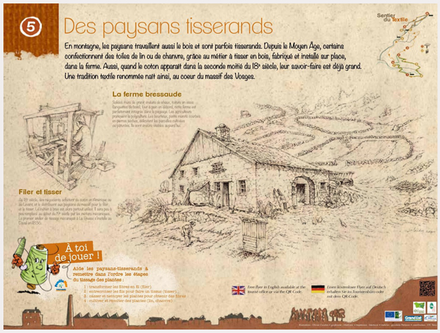 Sentier-du-Textile-Made-in-Vosges-à-La-Bresse-panneau-des-paysans-tisserands