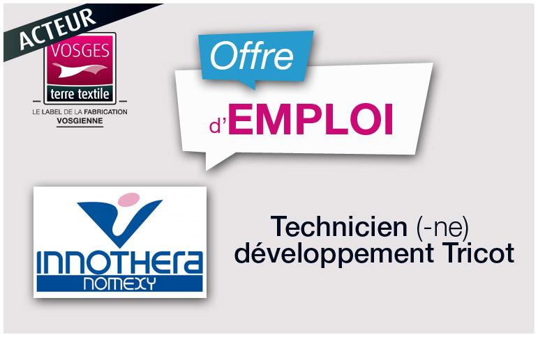 Fabricant français de bas de contention recrute un Technicien Tricot