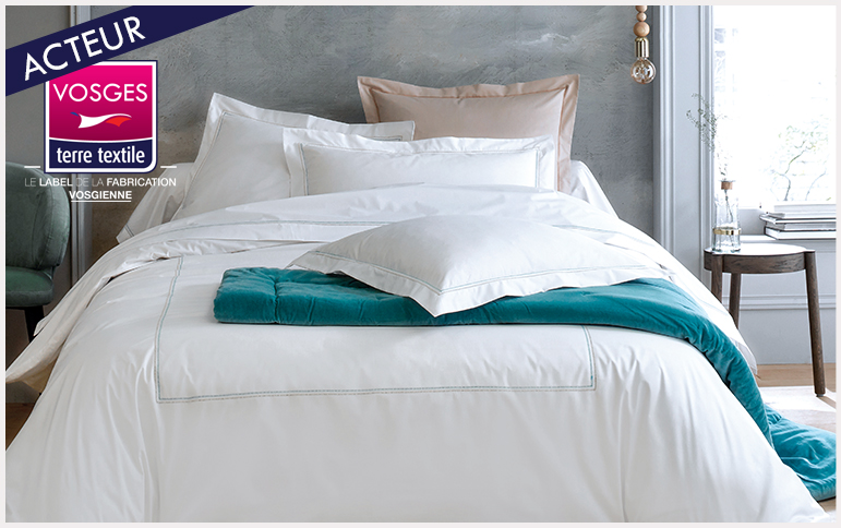Souvenir celadon nouvelle collection blanc des vosges entreprise textile Vosges savoir faire production locale made in france