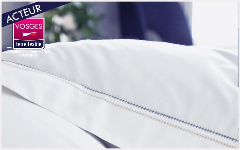 Souvenir galet nouvelle collection Blanc des vosges labellisée vosges terre textile entreprise locale made in vosges made in france savoir faire industriel