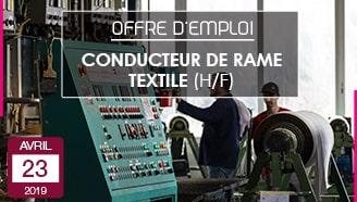 Conducteur de rames textiles offre emploi vosges gérardmer parmentelat annonce job rameur fabrication vosgienne