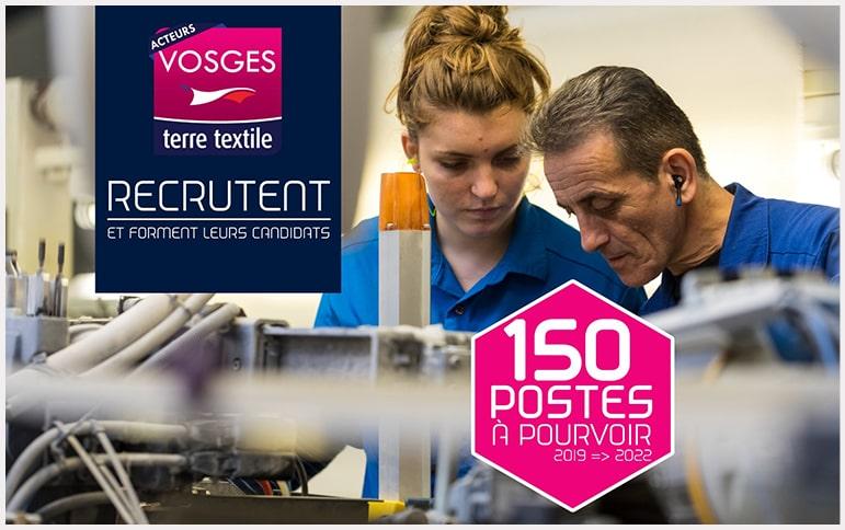 Réunion emploi formation recrutement apprentissage Vosges industrie textile savoir faire