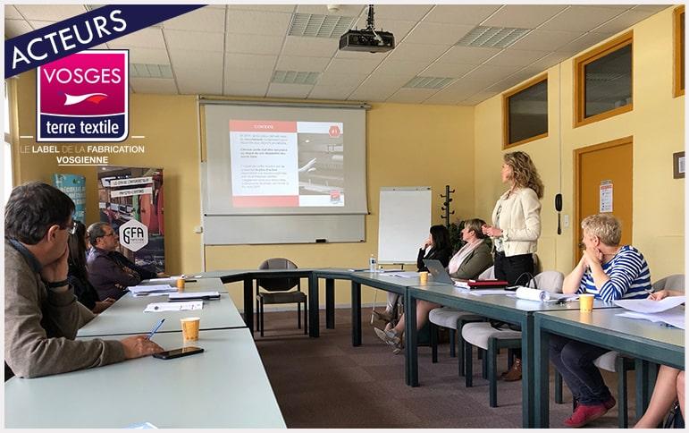 Réunion emploi formation recrutement textile Vosges entreprises savoir faire