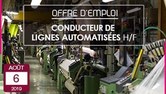 Conducteur de lignes automatisées offre emploi cdi entreprise textile vosges Garnier Thiebaut savoir faire