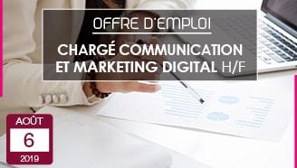 Offre emploi CDI Chargé de communication marketing digital Valrupt entreprise textile vosges