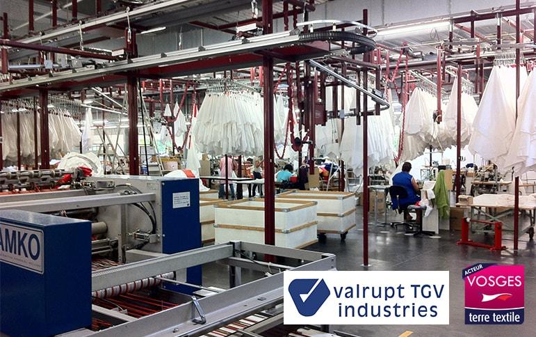 Valrupt TGV Industries entreprise textile vosges savoir faire local