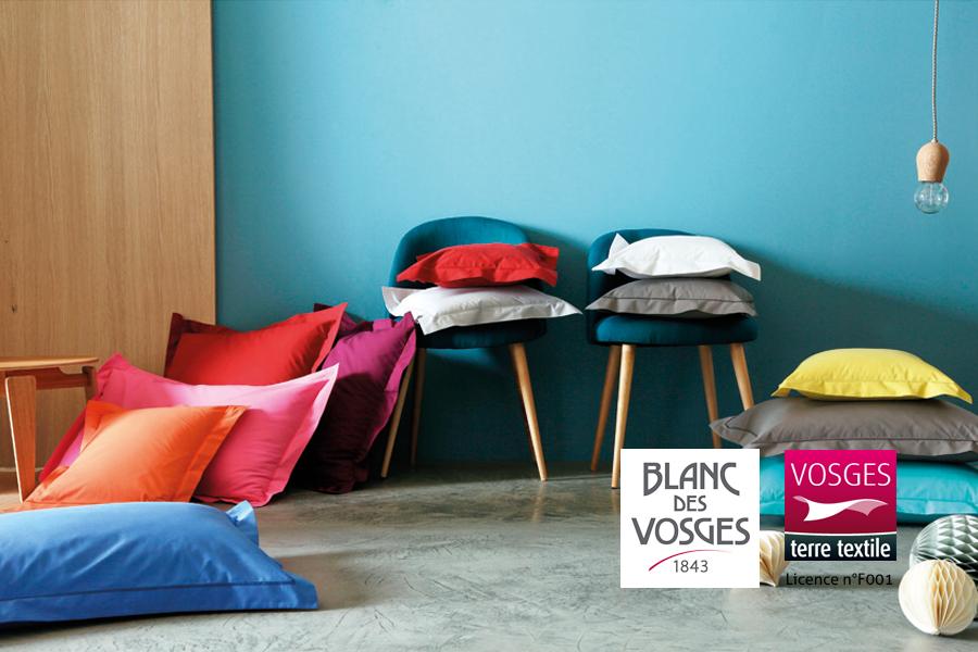 taie d oreiller fabriqu e dans les vosges par blanc des vosges. Black Bedroom Furniture Sets. Home Design Ideas