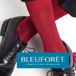 Chaussettes rouges fabriquées dans les Vosges par BLEUFORÊT