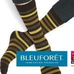 Chaussettes rayées fabriquées dans les Vosges par BLEUFORÊT