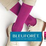 Chaussettes roses pour homme fabriquées par Bleuforêt