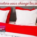 Linge de lit fabriqué dans les Vosges par Tissus Gisèle