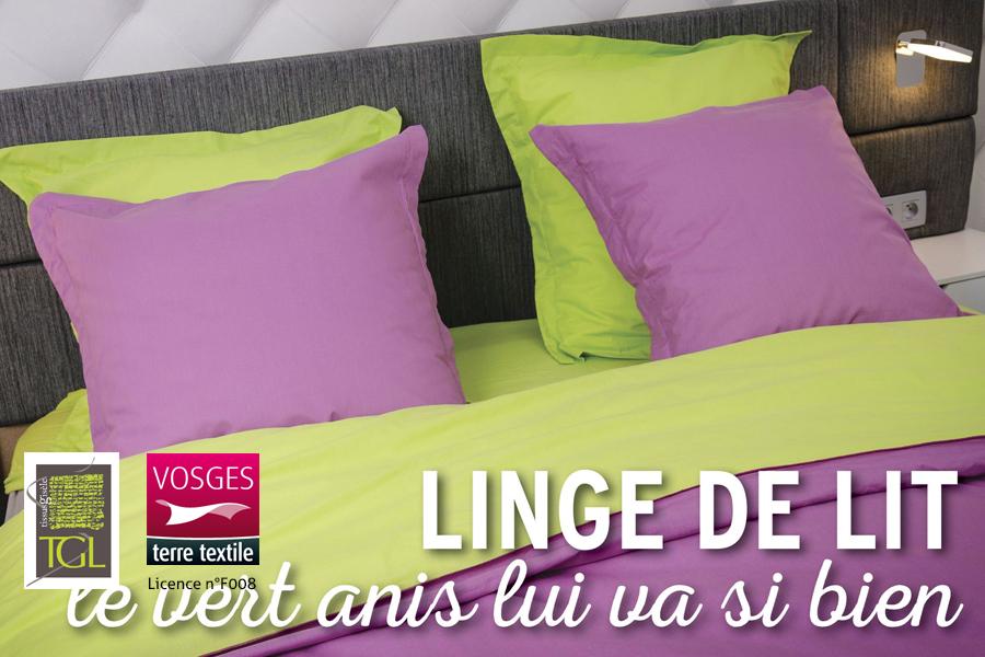 linge de lit fabriqu dans les vosges par tissus gis le. Black Bedroom Furniture Sets. Home Design Ideas