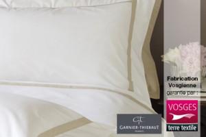 Linge jacquard fabriqué en France par Garnier-Thiebaut labellisé Vosges terre textile