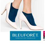 Socquettes bleues pour femme fabriquées dans les Vosges