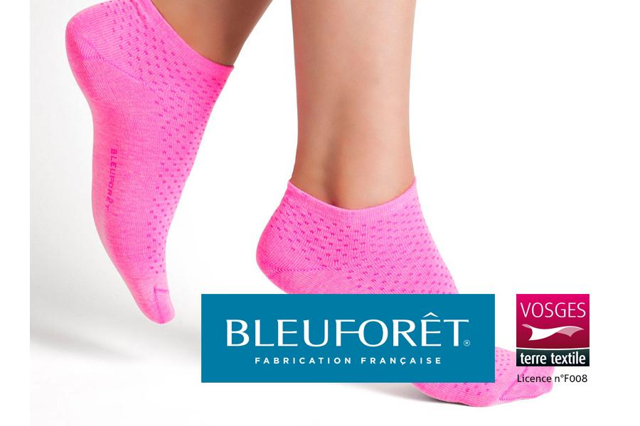 Socquettes roses pour femmes fabriquées par Bleuforêt