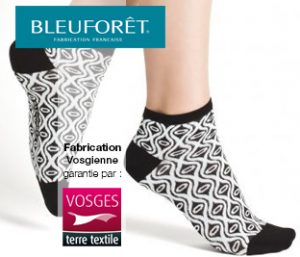 Le fabricant français de chaussettes lance une collection de chaussettes labellisées Vosges terre textile