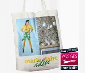 Tissu labellisé Vosges terre textile pour ce Tote Bag Marie Claire