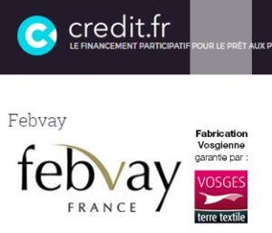 Febvay soulève 100 000 euros pour développer son entreprise agréée Vosges terre textile