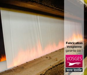 flambage textile dans les Vosges