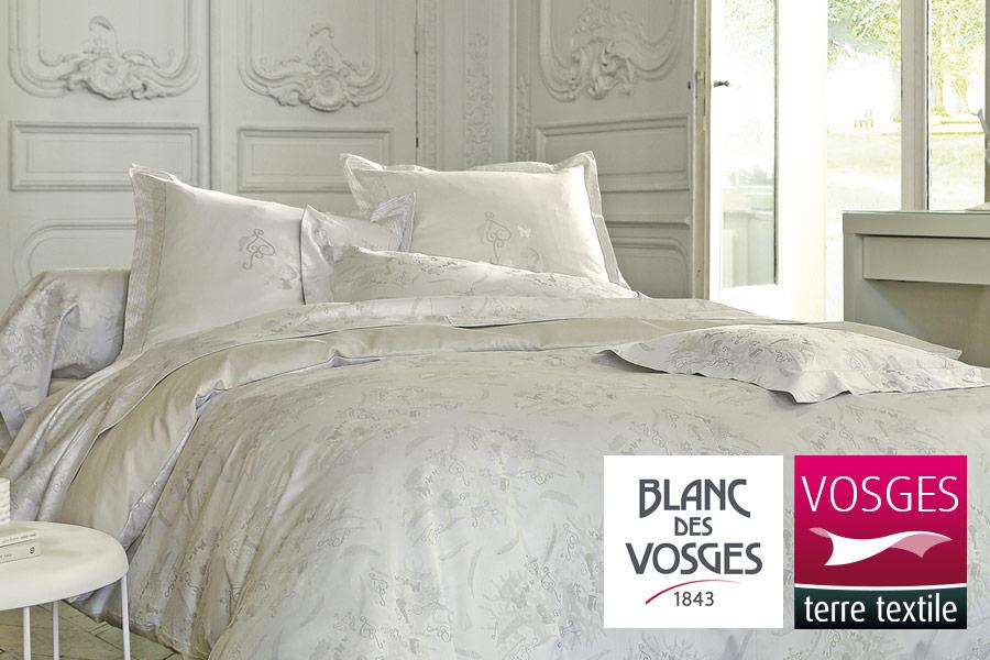 linge des vosges linge de qualit parure de lit ligne. Black Bedroom Furniture Sets. Home Design Ideas