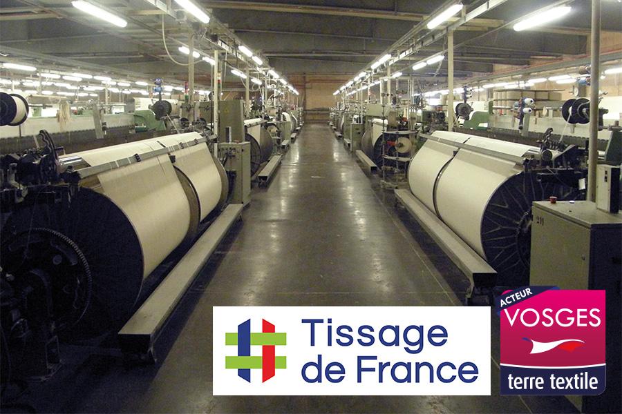 Tissage de France agréée France Terre Textile dans les Vosges