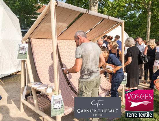 Garnier-Thiebaut agréée Vosges terre textile co-fabrique un banc 3.0