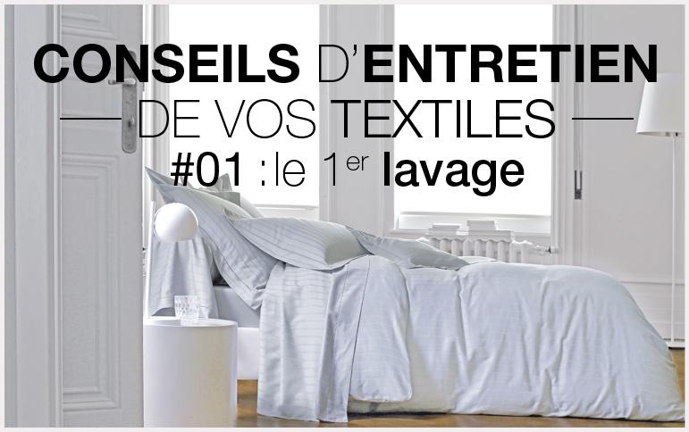 Conseil d'entretien Vosges terre textile linge de lit