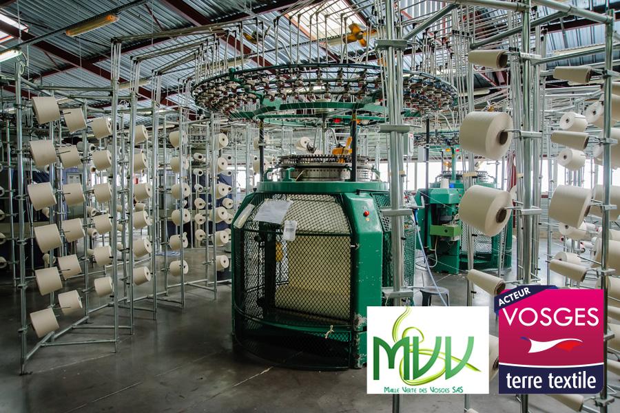 Maille Verte des Vosges agréée Vosges Terre Textile Made in France