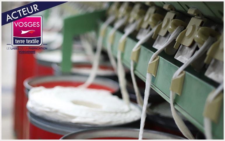Tissage Mouline entreprise textile Vosges certification GOTS coton environnement fabrication locale savoir faire