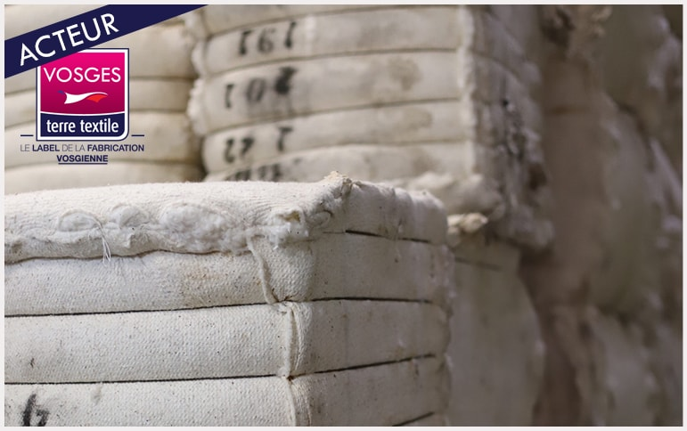 Tissage la Mouline Vosges certification GOTS coton respect environnement production locale savoir faire textile