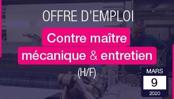 Job-à-la-Une-ContreMaitre-Entretien-Mécanique-Réglage