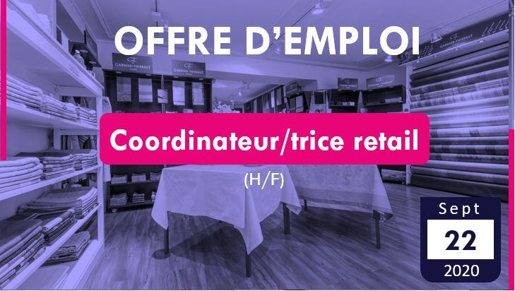 Offre d'emploi à Gérardmer – Coordinateur/trice retail