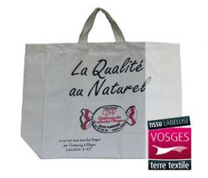 Tissu labellisé Vosges terre textile pour ce Cabas Confiserie des Hautes Vosges
