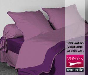 Le linge de lit des Vosges est fabriqué par Nicole Germain et labellisé Vosges terre textile