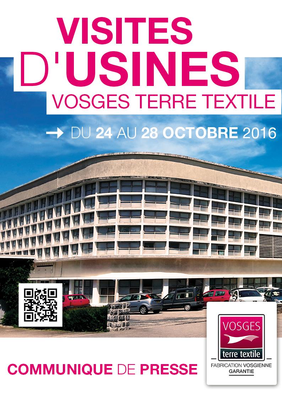 Communiqué de presse – Vosges terre textile, le label Made in Vosges fait visiter ses usines