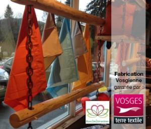 Du linge uni fabriqué dans les Vosges labellisé Vosges terre textile